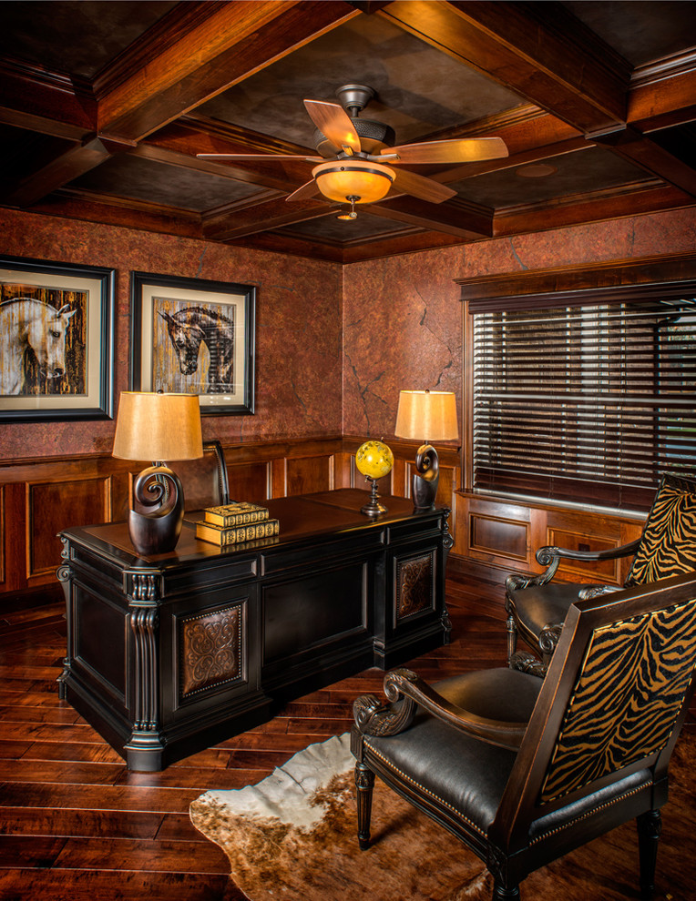 Miraculous Comfortably Working In Countryside Feeling Of Rustic Home Office Inspirational Interior Design Netriciaus