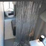 silver metalic sequin cloth curtain