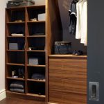 Small Walk In Closet Idea Made Of Wooden