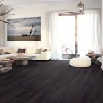 Spacious Dark Hardwood Floor Engineered Floors Customized Table Modern Sofa Nature Picture