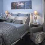 Textured Blue Bed Sheet Idea Bold Grey Blue Comforter Light Grey Pillow Shams Textured Blue Pillow Shams Small Bold Grey Blue Pillows Blue Wall System Grey Armchair With Grey Blanket