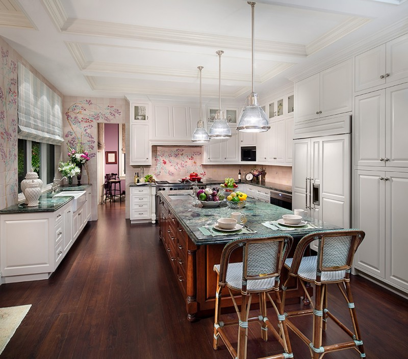 50 inspiring purple theme colour for kitchen decohoms for Purple kitchen wallpaper