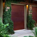 unique steel doors garage cor ten steel door plants modern lighting rust like appearance house exterior