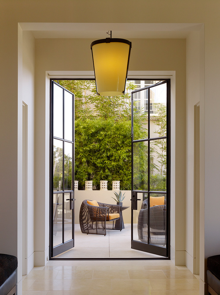 unique steel doors modern lamp lighting outdoor area seating steel and glass door light colored wall