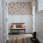 victorian white horizontal wood paneling in entrance
