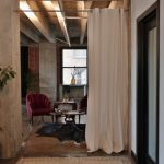 white curtain divider