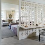 white pattern wooden divider