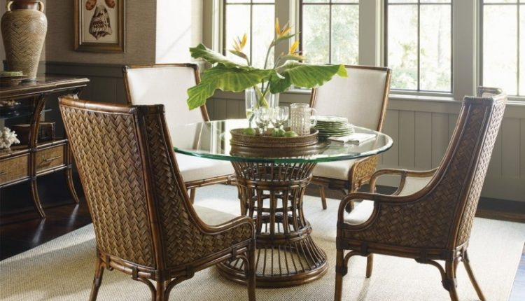 wicker woven chairs with high back, cushion from the seat to the back