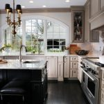 window outside finishing designs cabinets wall storage stove backless chairs faucet sink hanging lights arched window
