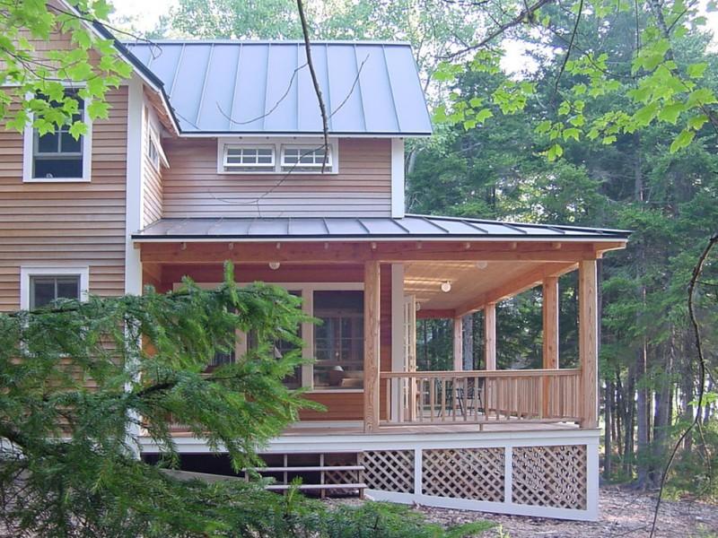 asymmetric lattice skirting idea for cottage hardwood railing system hardwood siding exterior dark painted aluminum roofs