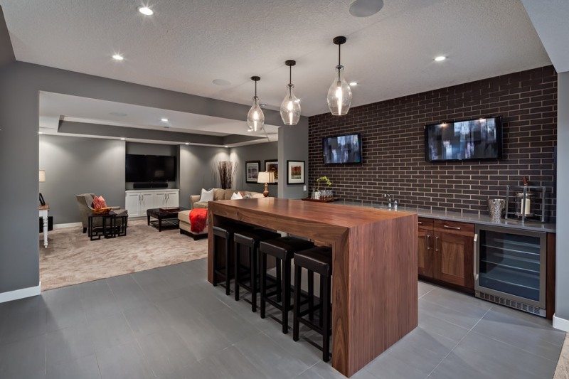 Exceptional Ideas Of Basement Bar Decohoms