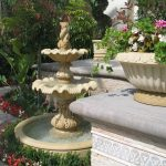 beautiful home gardens with fountains flowers elegantly designed fountain meditarranean landscape