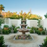 beautiful home gardens with fountains plants chairs table trees fountain mediterranean landscape