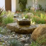 beautiful home gardens with fountains rocks stones flowers trees door mediterranean landscape