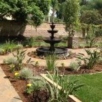 beautiful home gardens with fountains soil plants flowers fountain traditional landscape trees fence