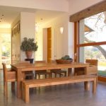 Bench Dining Room Table Contemporary Style Chairs Modern Lamps Ceiling Lights