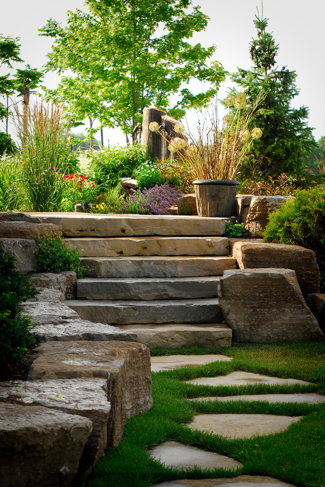 chiseled wall block stones for stairs and wall