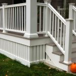 composite decking and railing idea with composite deck skirting
