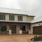 craftsman type of texas hill country home plan with pastel and light brown domination