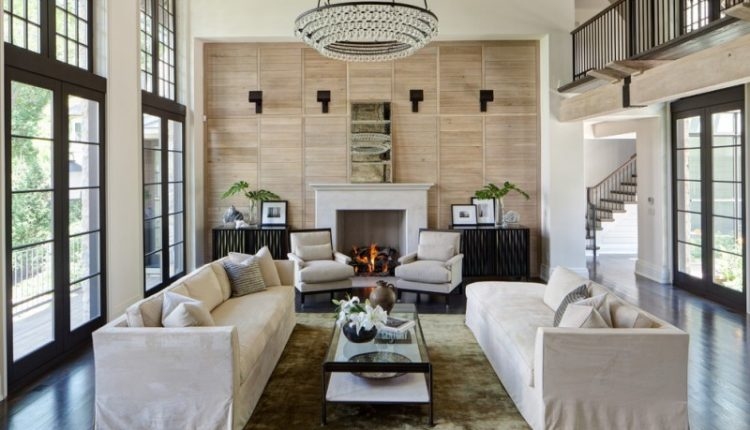 deep patina bronze ochre lighting arctic pear chandelier living room idea fireplace screened door