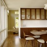dining cabinet wood floor modern chairs table big windows