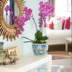 Dubai Eclectic Mirrored Entryway Unique Designb Chinese Decoration Idea Console Table Flower Pot Transparent Chair
