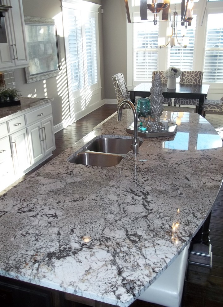 Exodus white granite countertops that serve you genteel for White cabinets granite countertops