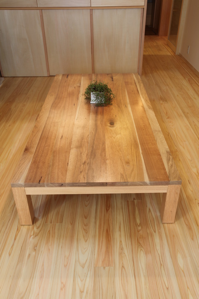 floor seating dining table light colored wood floor japanese dining room