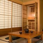 Floor Seating Dining Table Tatami Shoji Door Kettle Doors Storage Wood Cups
