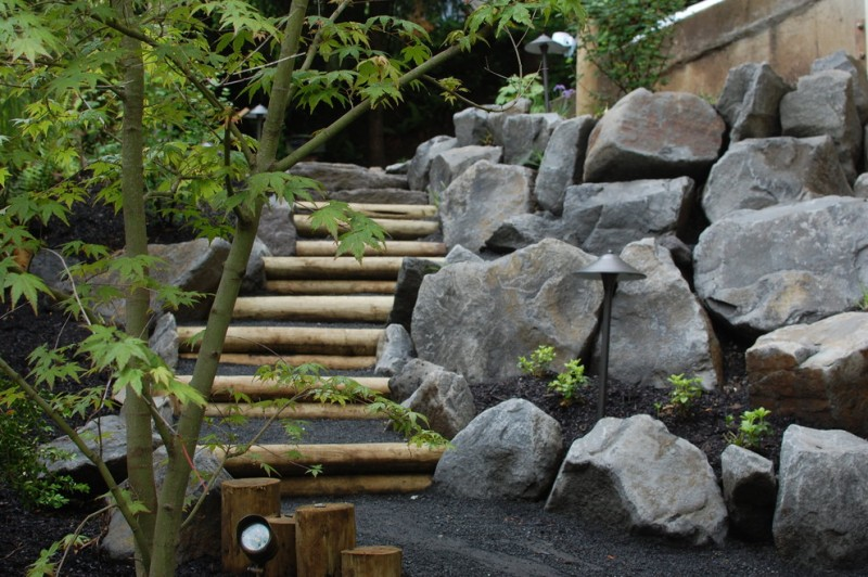 grey riprap for wall blocks