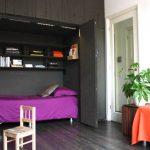 guest bed ideas pillow shelves chair dark floor doors contemporary kids room