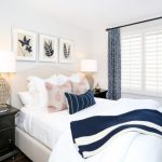 guest bed ideas pillows tables drawers lamps flower big window curtains painting beach style bedroom