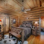 High End Rustic Wood Bed Design In Cool Shabby Look Ceiling Fan Rustic Furniture Like Chair And Bedside Tables