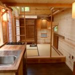 Japanese Tiny House With Sink And Stove In The Kitchen Area, Tatami Mats, Bedroom Upstair