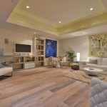 Living Room With White Washed Oak Flooring