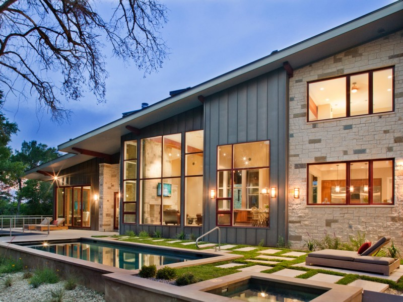 Rustic charm of 10 best texas hill country home plans for Modern country house
