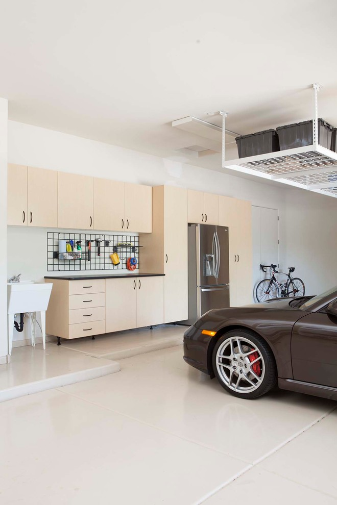 minimalist interior design storage car contemporary garage ceiling rack wall rack