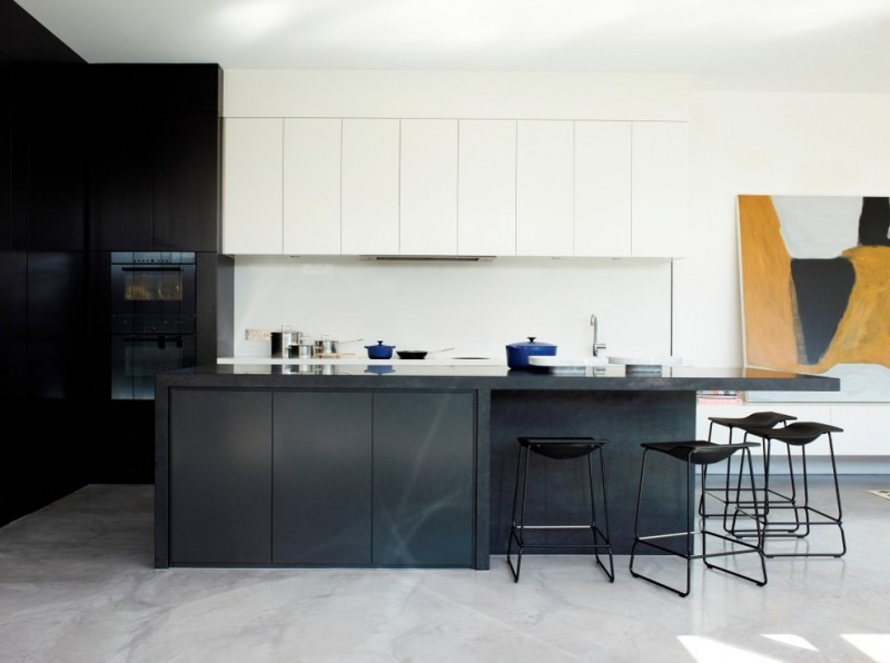 modern kitchen cupboard designs dining chairs painting dark color wall cabinets contemporary design
