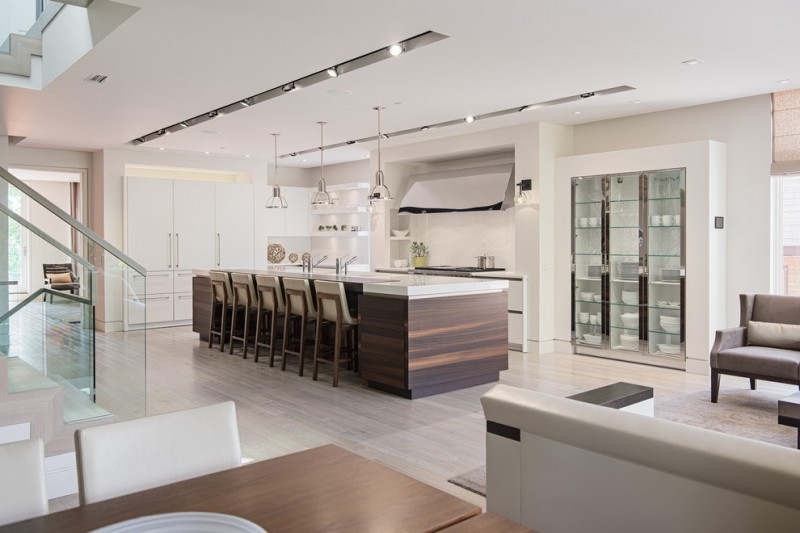 modern kitchen cupboard designs stairs chairs pillows glass door dining area contemporary room lighting