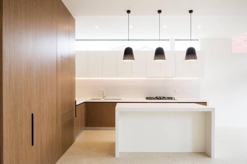 modern kitchen cupboard designs wood hanging lamps lighting wall cabinets faucet sink window ceiling lights