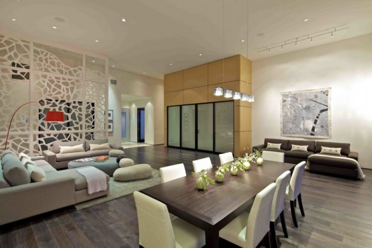 Cool Modern Living Rooms With Big Flat Screen And Great