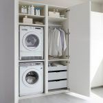 Modern Loundry Room For Small Area Multifunctional White Cupboard Small Space Storage Detergen And Parfum Storage