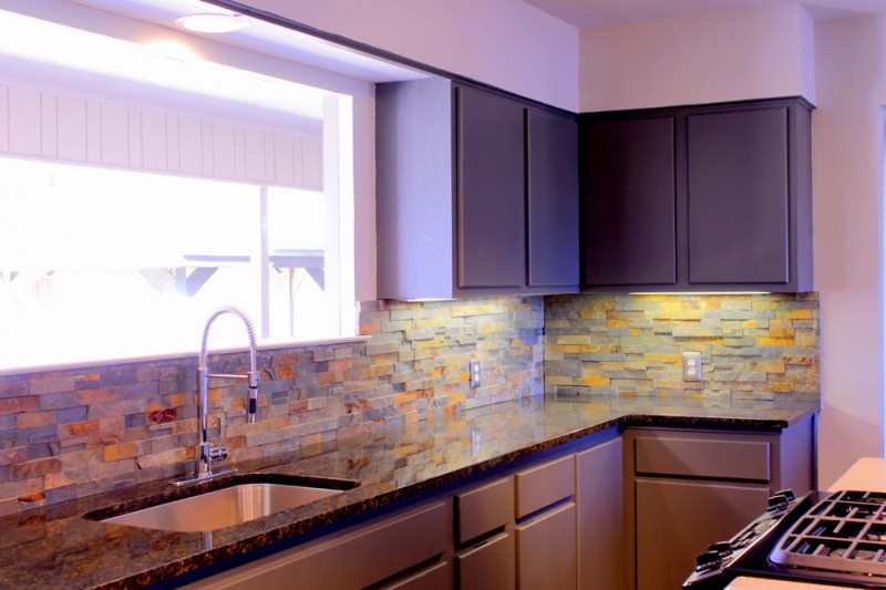 50 inspiring purple theme colour for kitchen decohoms for Ranch style kitchen cabinets