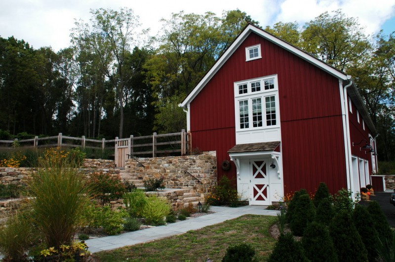 most beautiful exterior of house color combinations red walls white door windows farmhouse exterior pathway railing