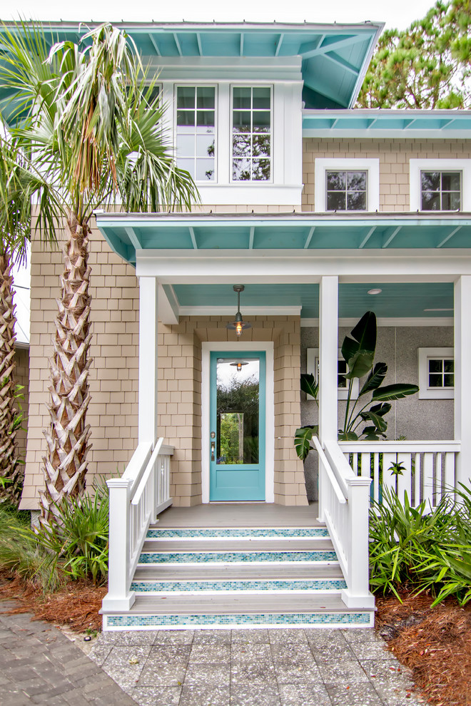 Most beautiful exterior of house color combinations to - Coastal home exterior color schemes ...