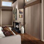patio door window treatment idea modern living room blind door hardwood flooring simple white couch