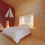 Plywood Loft Bed Design Plywood Walls Red Wall System With Glass Window Plywood Floors Wall Integrated Storage System