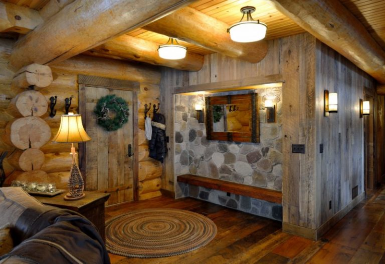 Beautiful Rustic Mud Wood Interior Designs | Decohoms