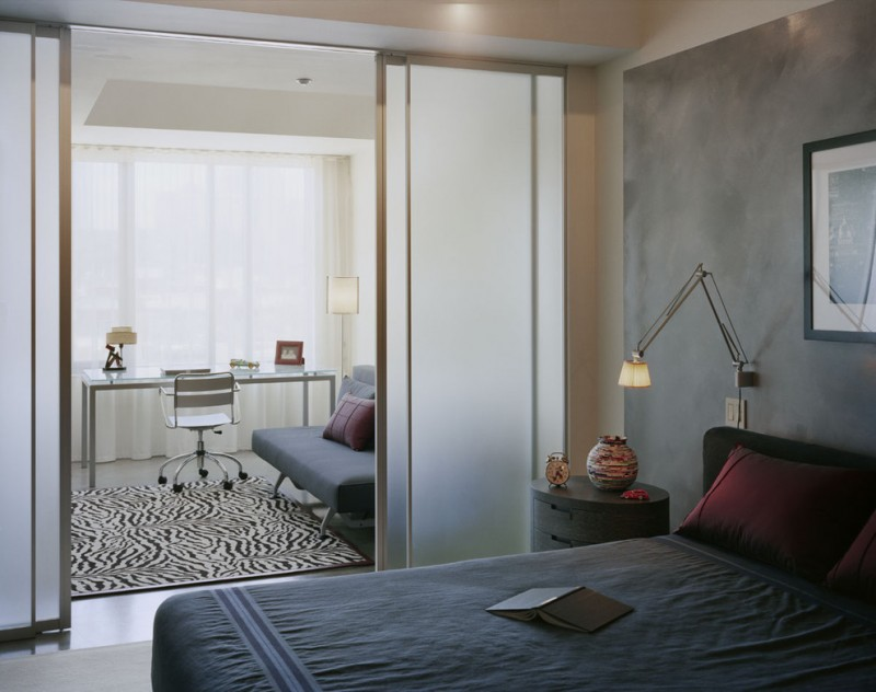 simple glass door for bedroom bed pillows table carpet modern lamp sliding doors bench chair home office