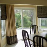 Sliding Glass Door Sun Protection Roman Side Windows Patio Door Window Treatment Big Curtain